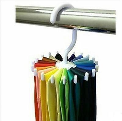 436945543837 2014 New Rotating Tie Rack Adjustable Tie Hanger Hold 20 Neck Ties Organizer  Men | eBay
