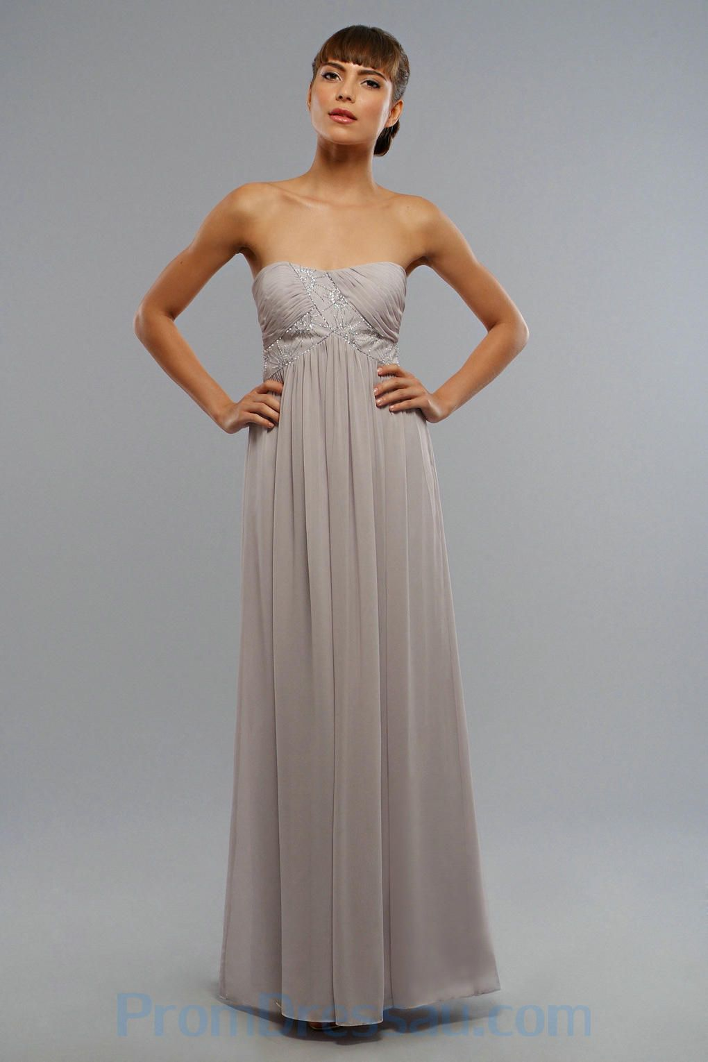 Long Grey Dress Bridesmaid - Ocodea.com