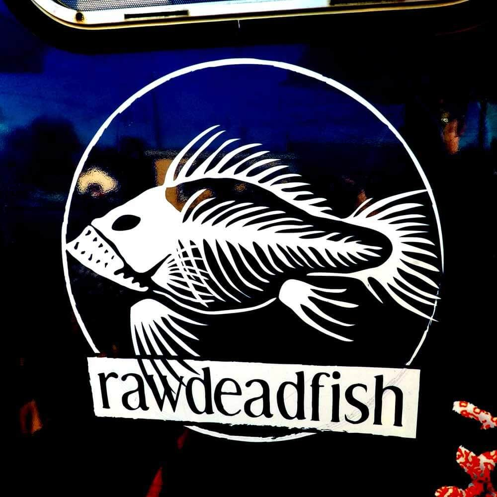 Raw Dead Fish logo found on the side of our sushi truck