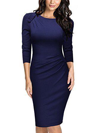 Miusol Damen Vintage 50er Kleid Knielang Ballkleid ...