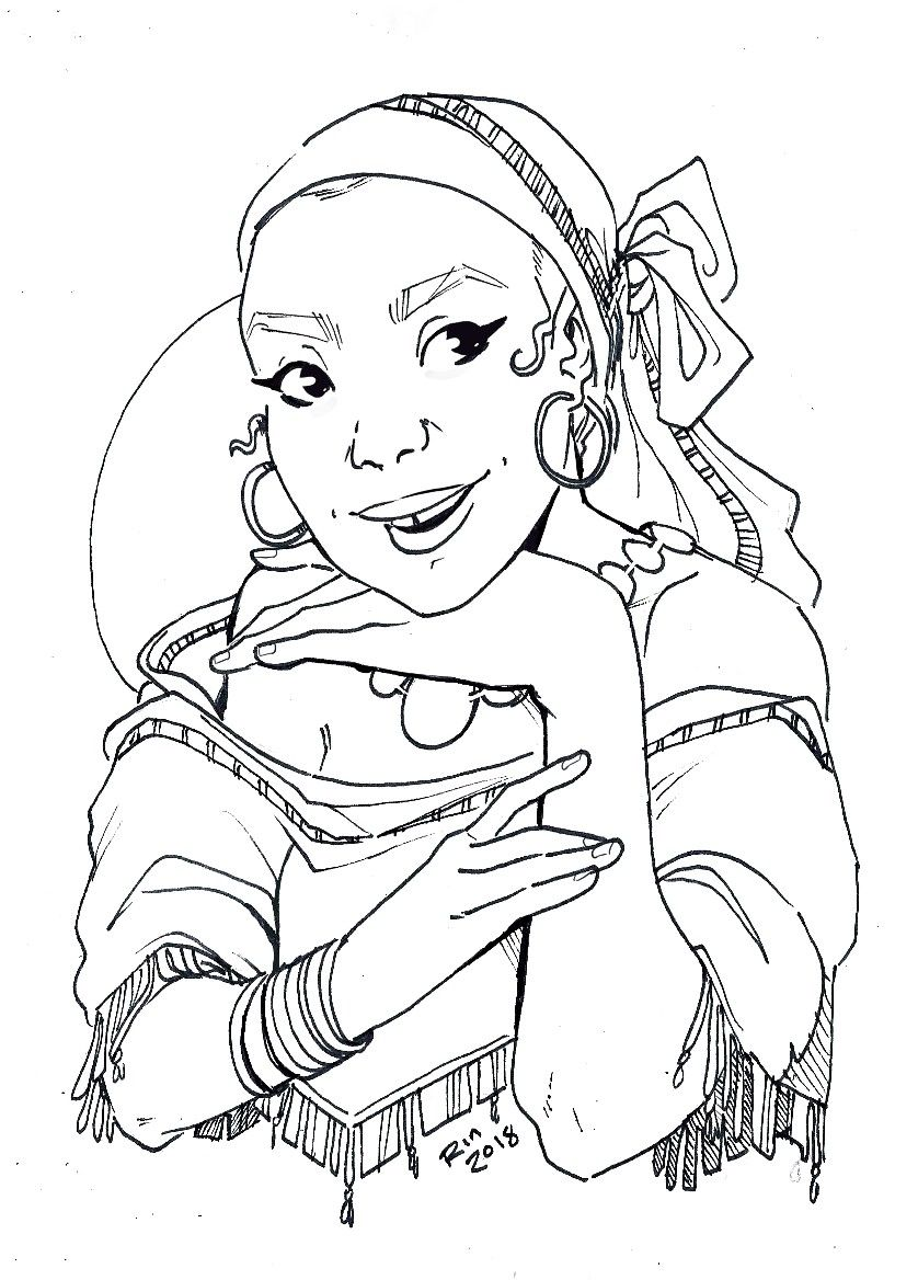Color This Illustration Art Drawing Cartoon Art Styles Drawings