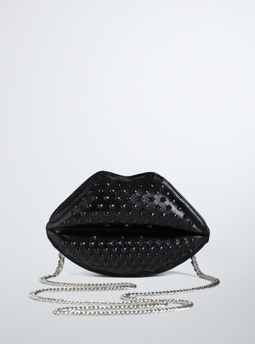 Studded Lips Crossbody Bag From the Plus Size Fashion Community at www.VintageandCurvy.com