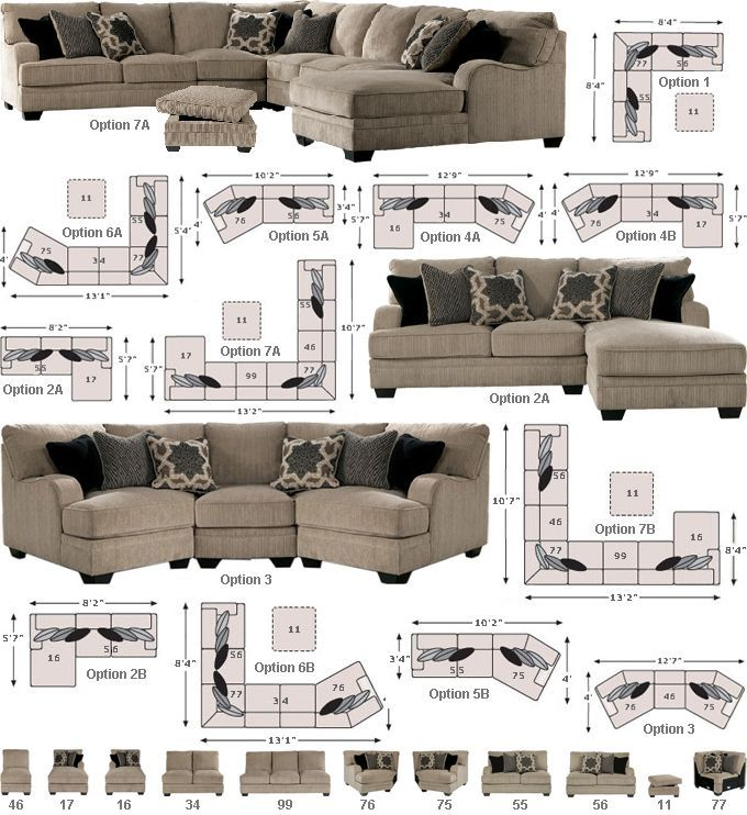 Ashley - millennium - wilcot - sectional  sc 1 st  Pinterest : sectional pieces - Sectionals, Sofas & Couches