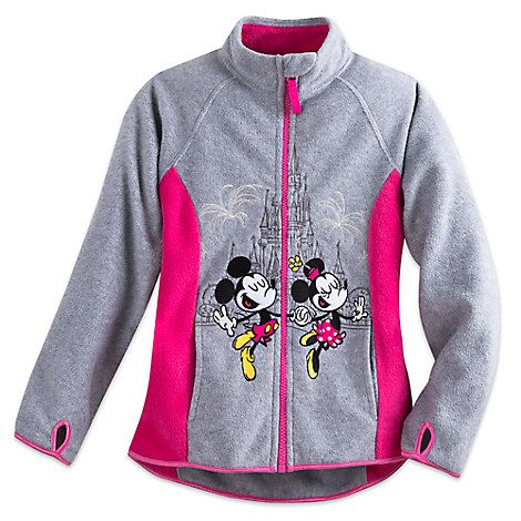 Minnie mouse fleece jacke