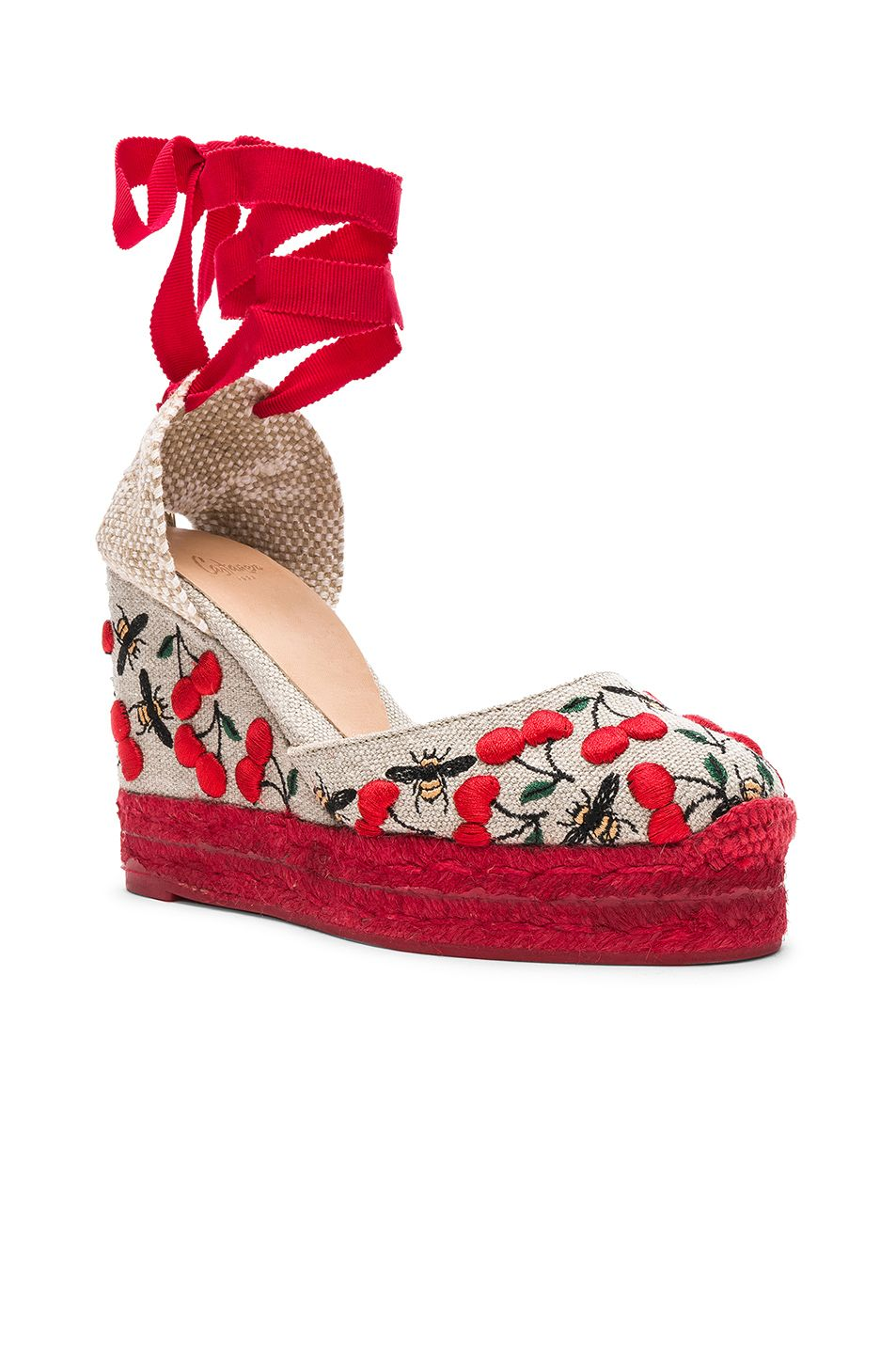 Castaner Embroidered Canvas Carina Espadrilles in .