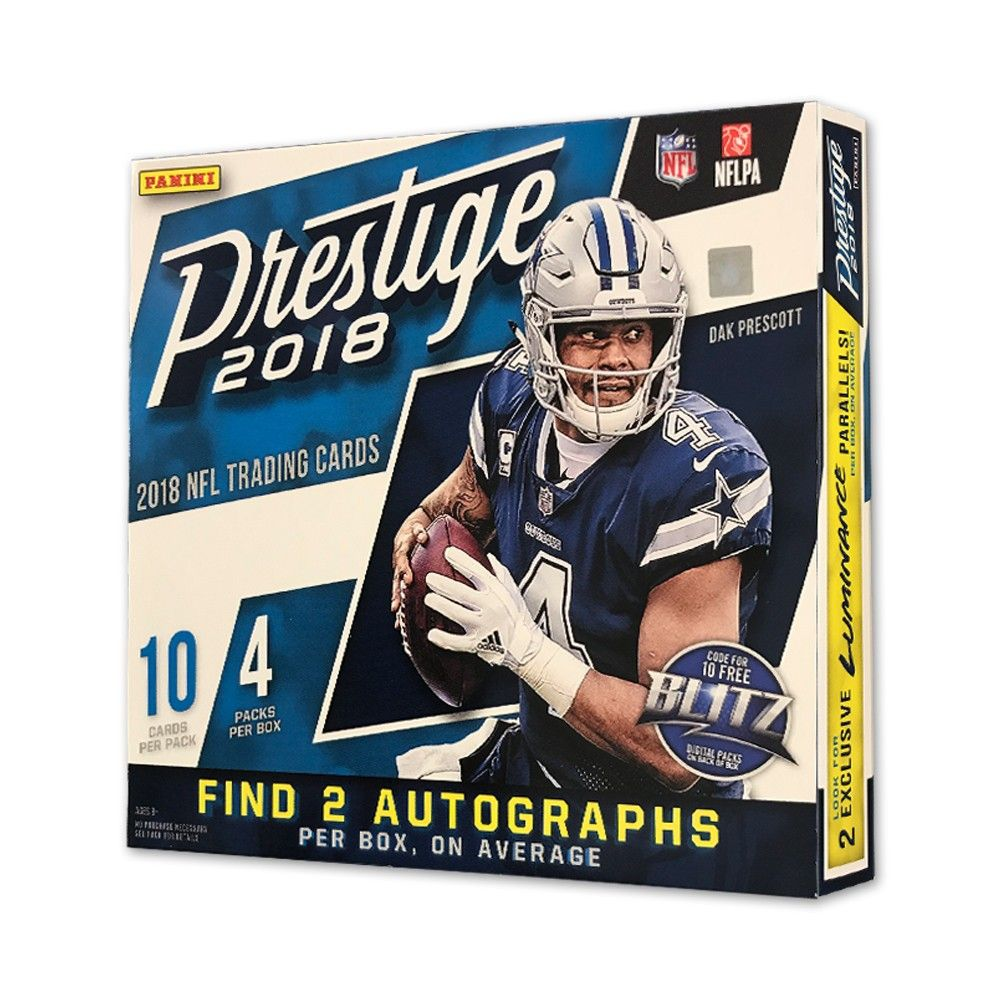 Panini 2018 NFL Prestige Mega Box Football Trading Cards