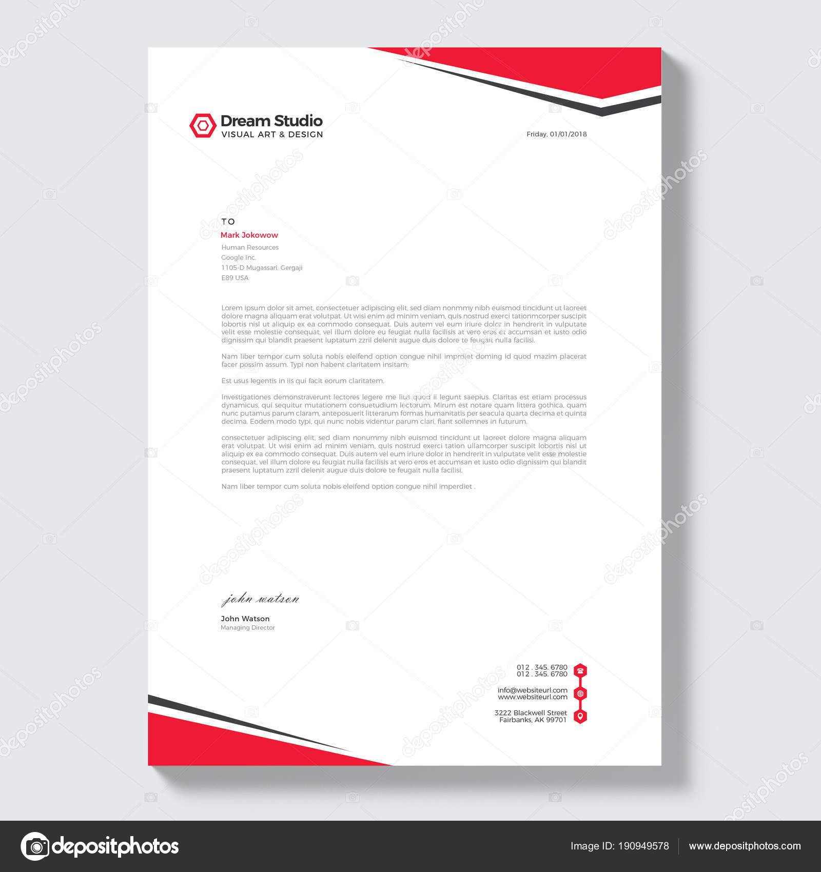Download Modern Letterhead Vector Design Template