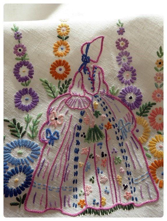 크레놀린자수 도안 | Embroidery | Pinterest | Bordado, Bordados ...