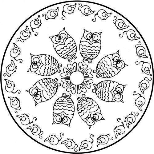 Dibujos De Mandalas Imagenes De Feliz Dia Mandala Coloring Pages Mandala Drawing Mandala Coloring