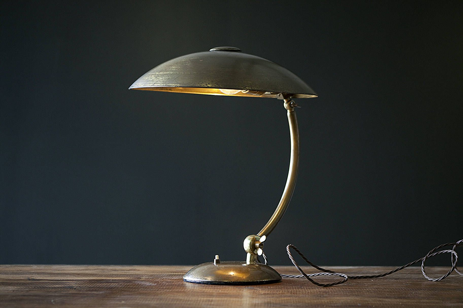 Vintage flying saucer desk lamp flying saucer desk lamp and desks beautiful vintage flying saucer desk lamp restored rewired and pat greentooth Choice Image