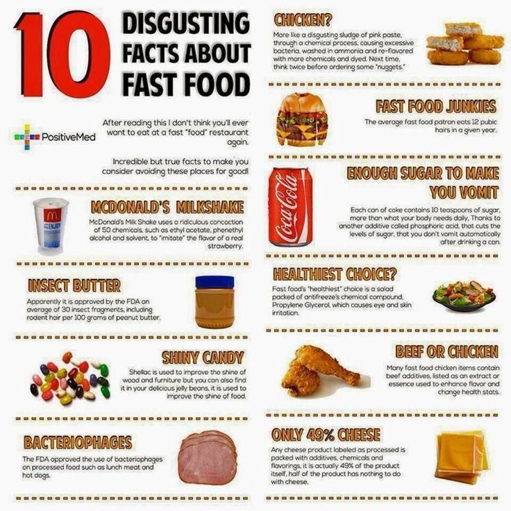 Food Infographic 10 Disgusting Facts about Fast Foods - resume fast food