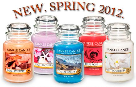 Time to replace the winter candles with new spring and summer smells