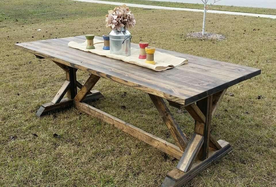 Diy custom trestle table farmhouse easy idea butcher