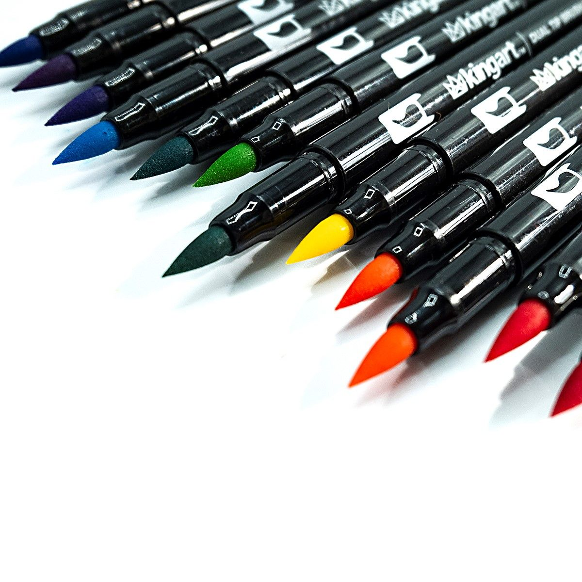 Dual Tip Brush Pen Art Markers Set Of 24 Unique Colors In 2020