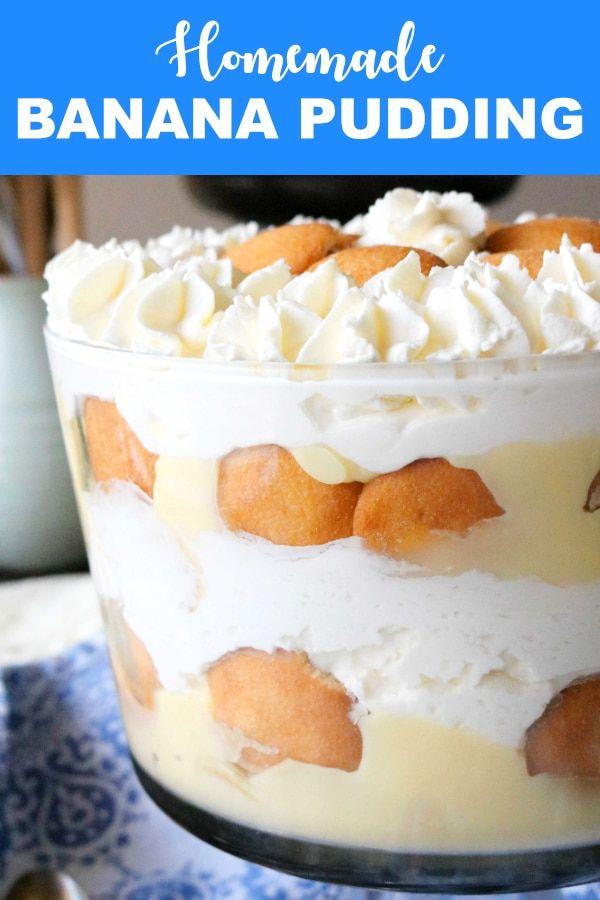Layered Banana Pudding Trifle #trifledesserts