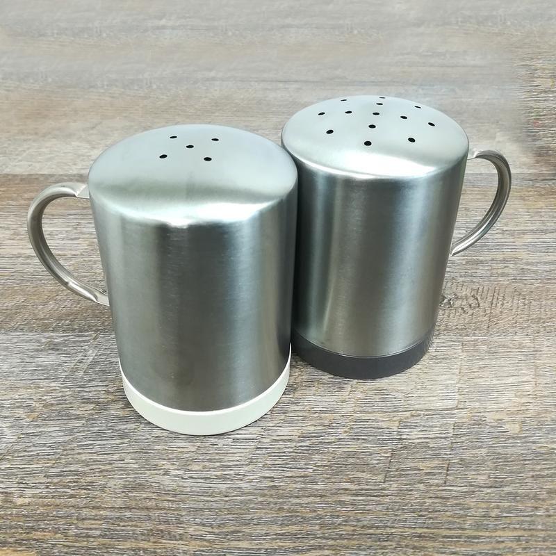 Bamboo /& Stainless Steel Salt /& Pepper Set