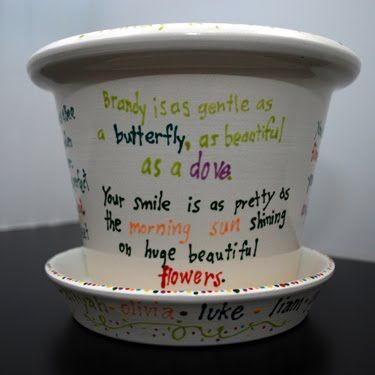Poetry flower pot -- idea for teacher gift from third story(ies)