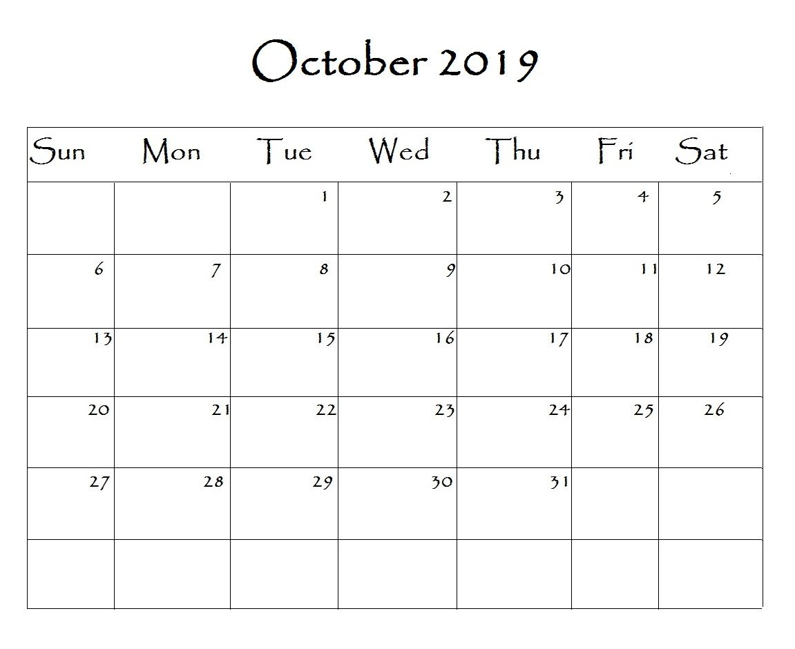 Free Printable 2019 Word Calendar Calendar Template Free