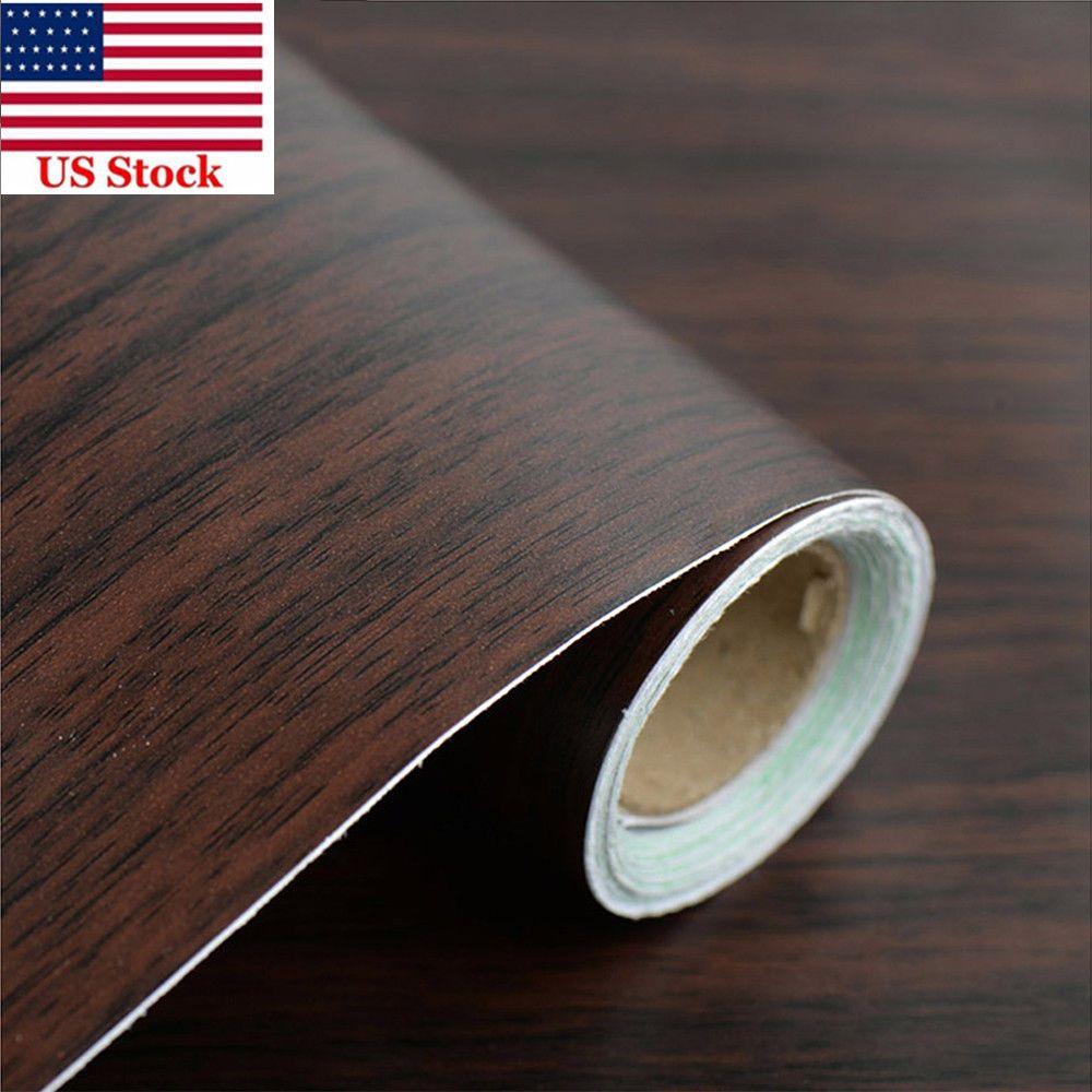 Wood Grain Contact Paper Vinyl Self Adhesive Shelf Liner Covering