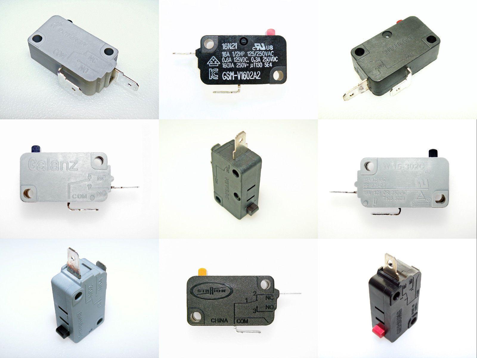 Microwave Oven Door Interlock Monitor Micro Switch Singles And 3 Pack Microwave Oven Door Switch Black Microwave Oven