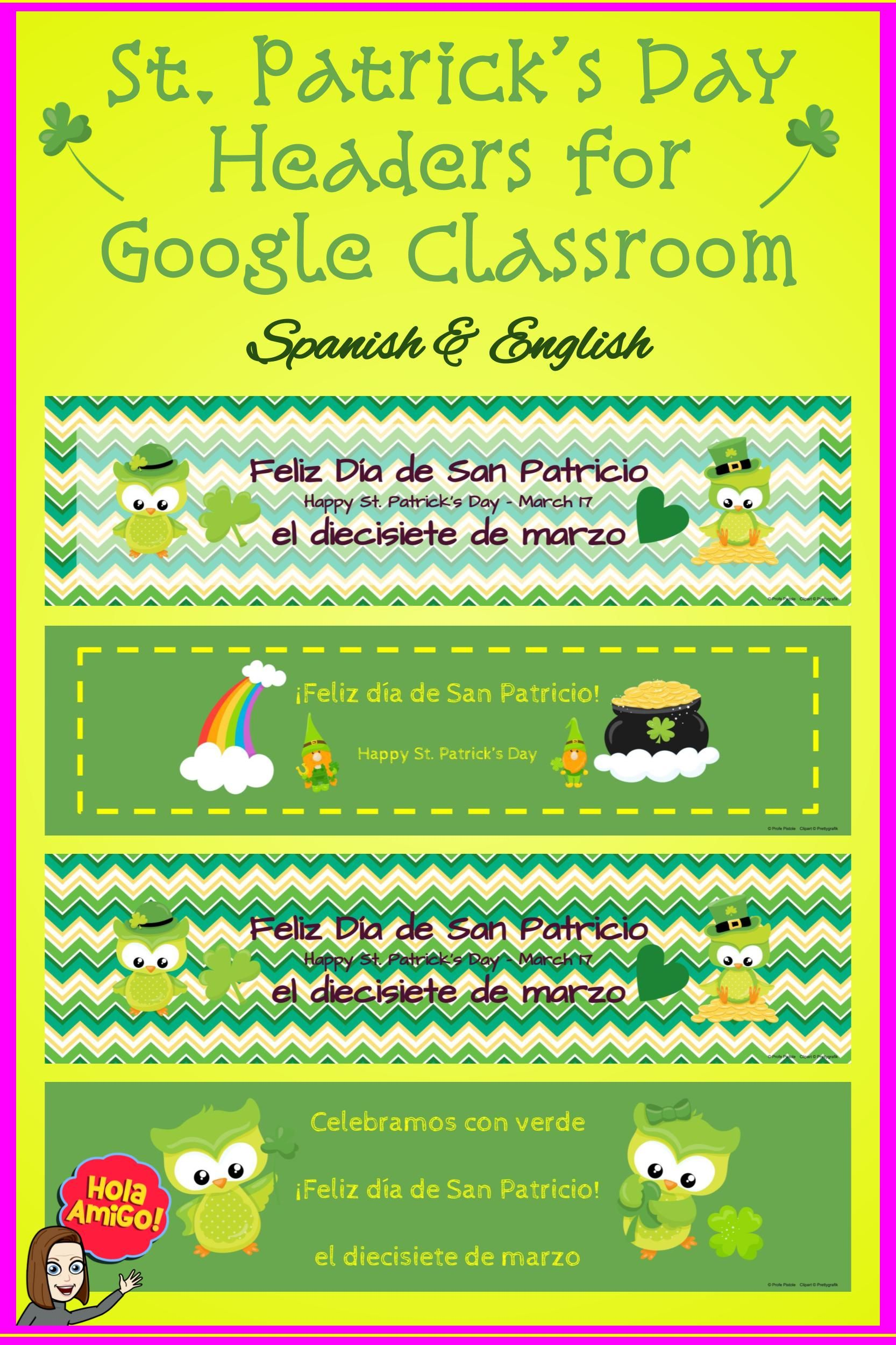St Patrick S Day Headers For Classroom