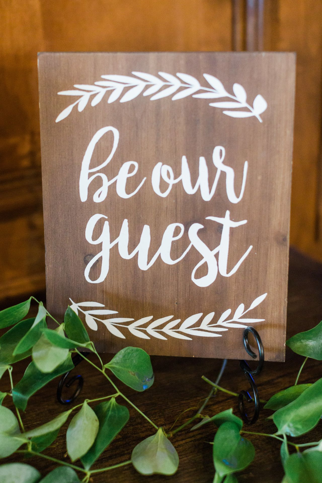 Wood wedding decoration ideas  natural wood wedding reception signs  beauty  the beast themed