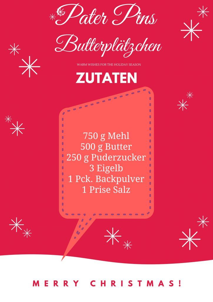 Pater Pins Butterplätzchen - Dany a´la Carte