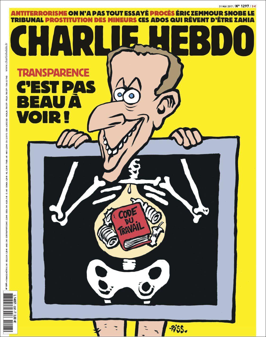 01-1297-Macron.indd | Charlie hebdo, Couverture charlie hebdo, Satirique