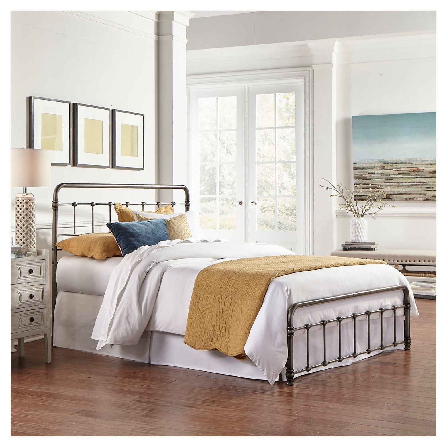 Fremont Bed Weathered Nickel Full Fashion Bed Group