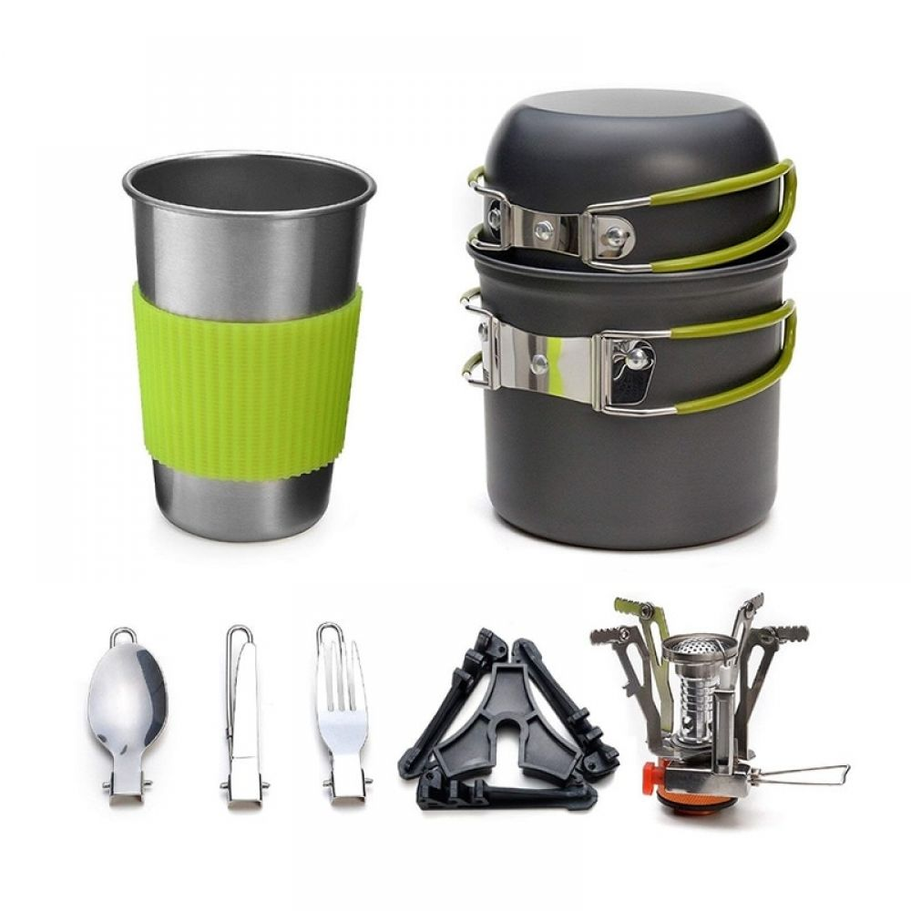 8Pc camping cooker set equipment outdoor equipment set UK