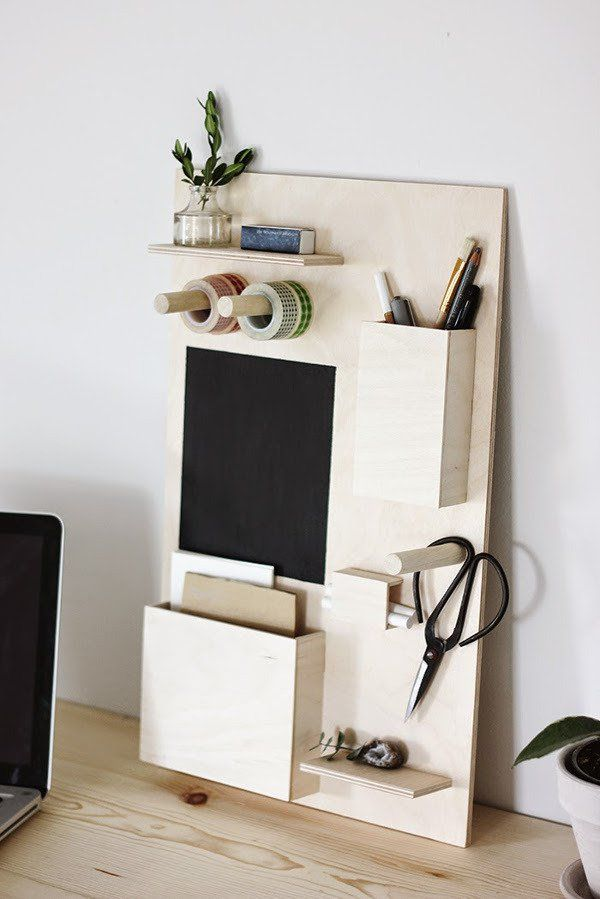 Make It Easy Diy Wooden Desk Organizer Desk Organization Diy Diy Organisation Room Diy