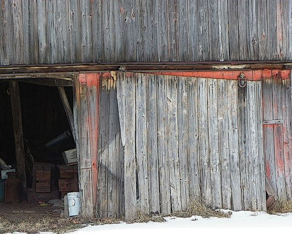 Broken Barn Door - Barn Door Rustic Fine Art Wall Decor - Weathered Siding - Old Barn Door - Barn Door - Gray Barn Door - Weathered Wood Art