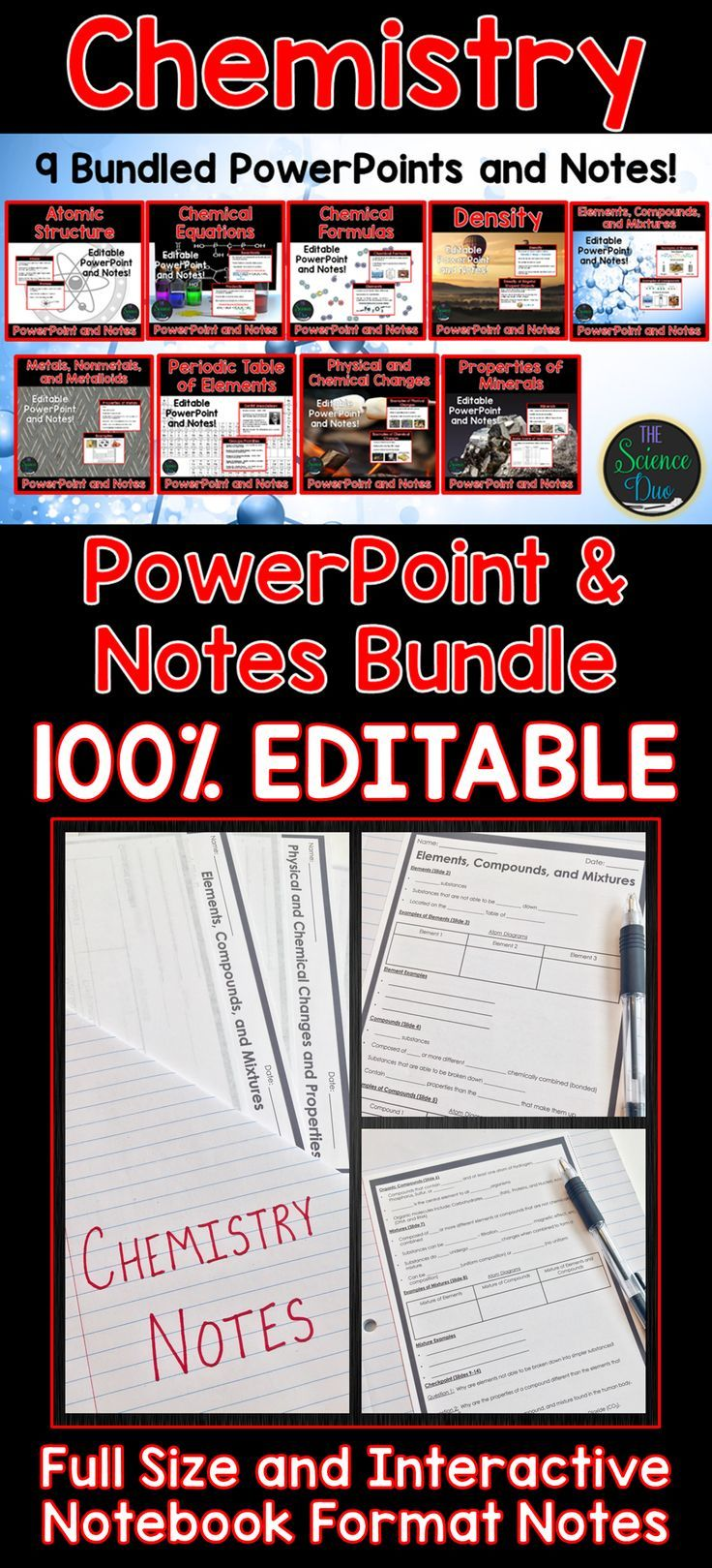 Chemistry powerpoint and notes bundle chemistry periodic table introduce important chemistry concepts to your students with this powerpoint and notes bundle this resource urtaz Images