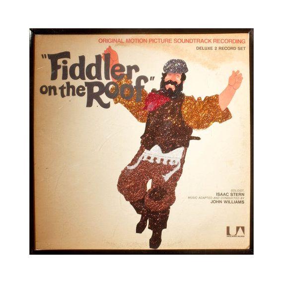 Glittered Fiddler On The Roof Album Etsy In 2020 Fiddler On The Roof Retro Music Album Art