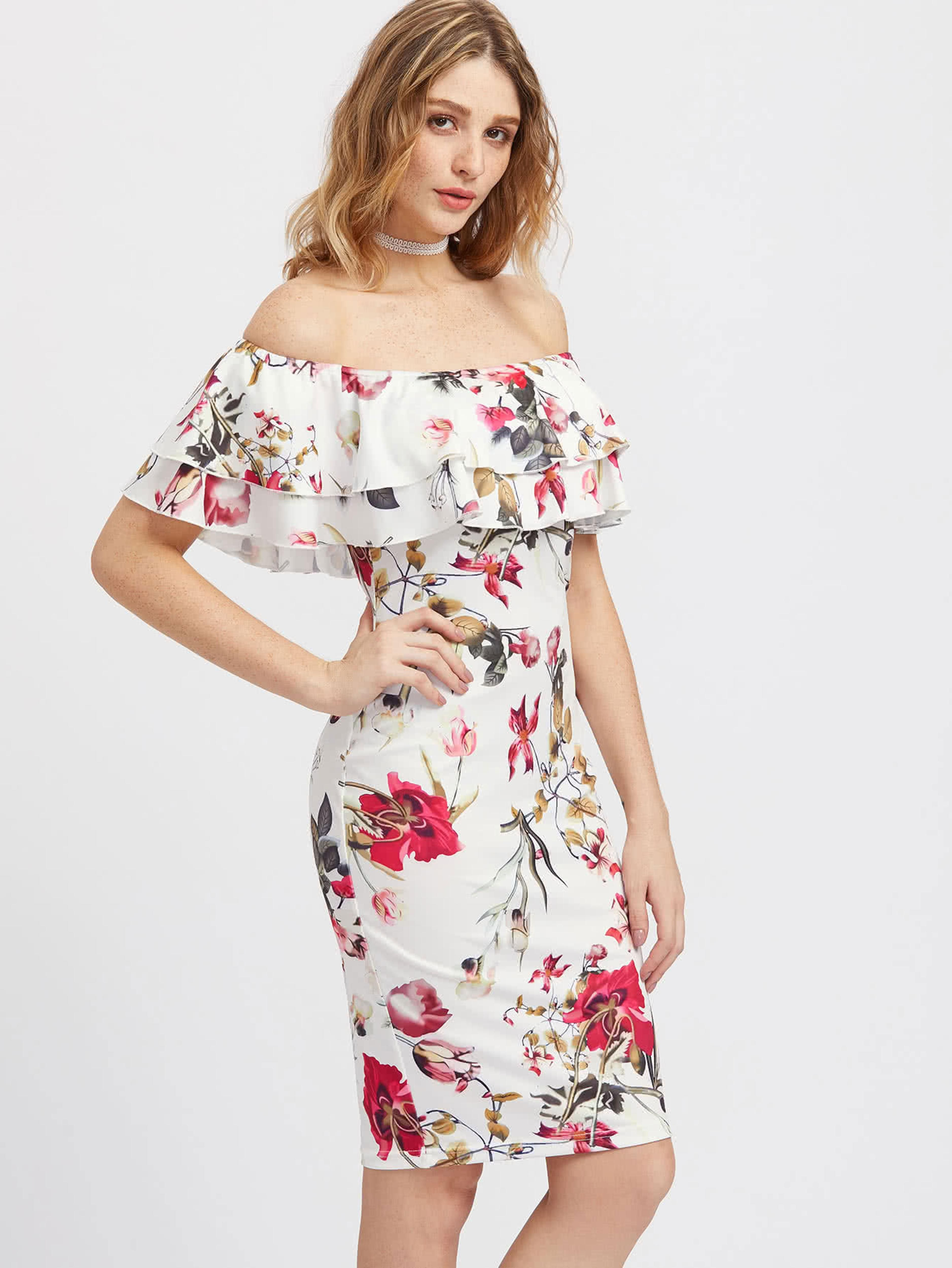 3d14d00a189f Gender: Women Decoration: Cascading Ruffle Neckline: Slash neck Sleeve  Style: Butterfly Sleeve Season: Summer Material: Polyester,Spandex,Cotton  Brand Name: ...