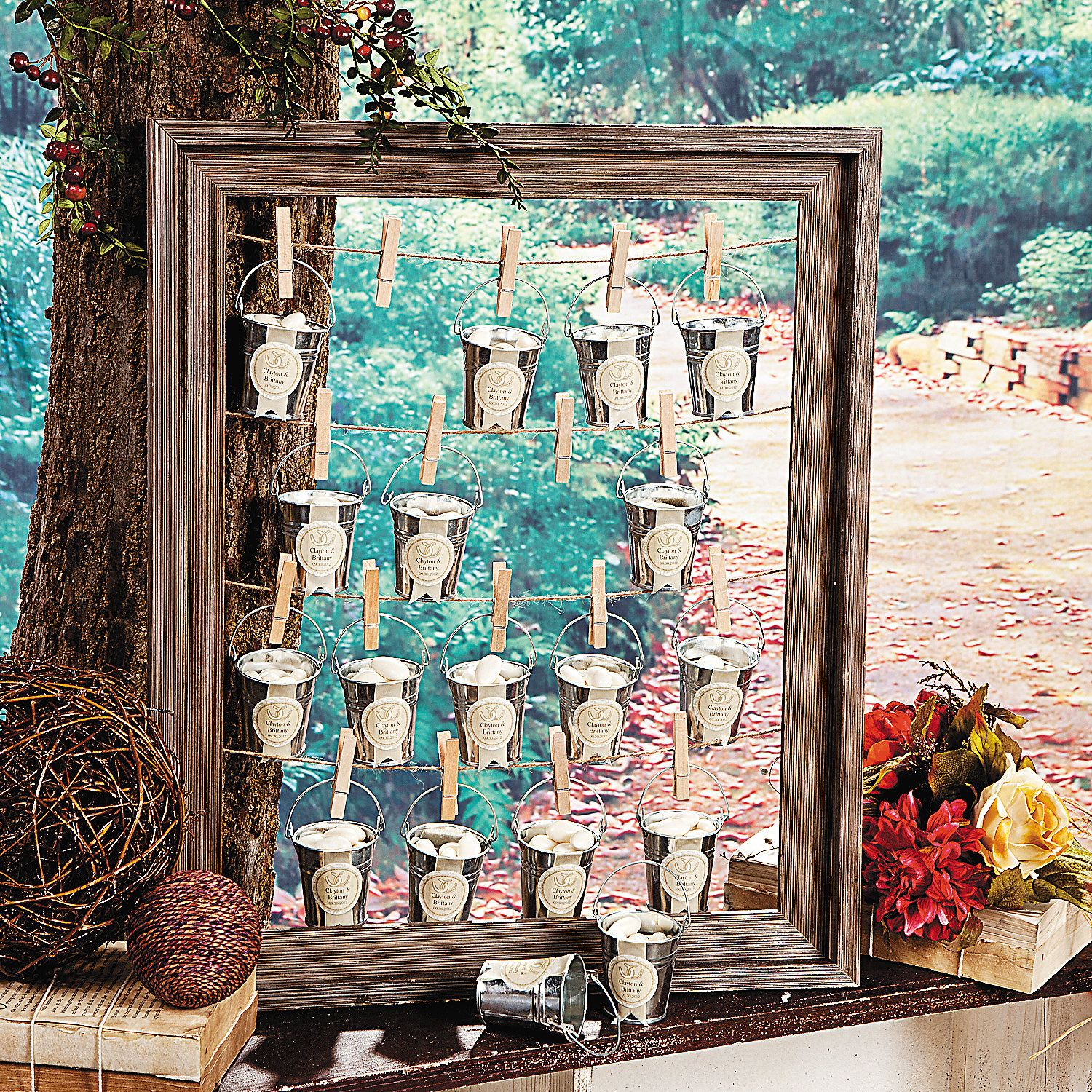 Rustic Wedding Favor Frame Idea - I would maybe do this with ...