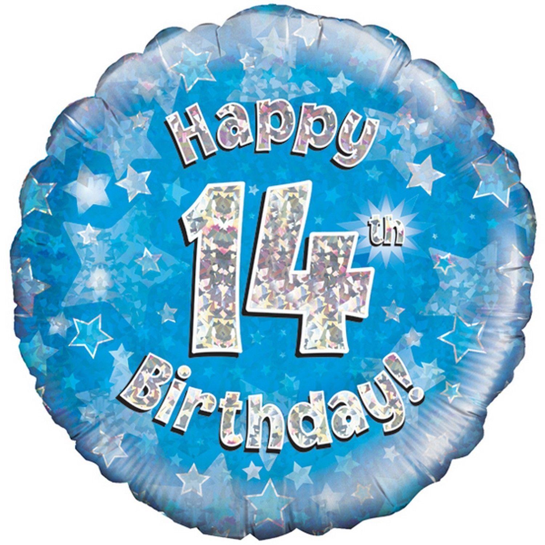 Happy Birthday Nephew Holographic Foil Balloon