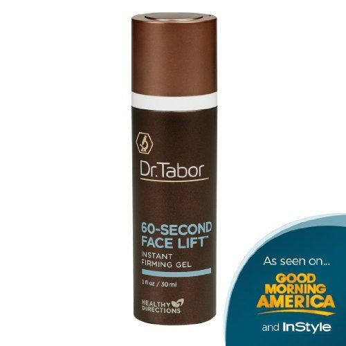 Dr. Tabor's 60-Second Face Lift Instant Firming Anti-Aging Gel, 1 fl. Oz by Dr. Tabor. $85.00. Developed by Dr. Aaron Tabor, medical researcher at Johns Hopkins and expert in helping women of all ages achieve total body beauty. Instantly firm, contour, and correct visible signs of aging. Distributed by Healthy Directions, known for its stringent quality control measures and Triple Testing Methodology which have led to a spotless safety record for more than 20 years. Gu...