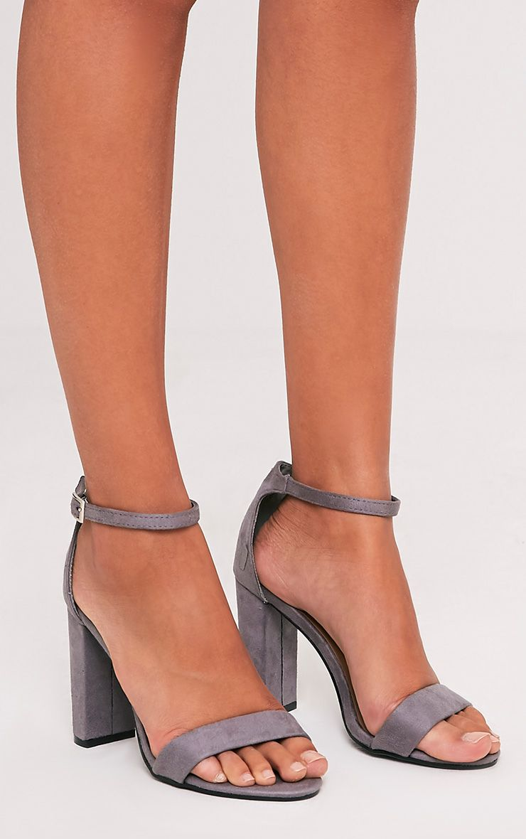 suede block sandals
