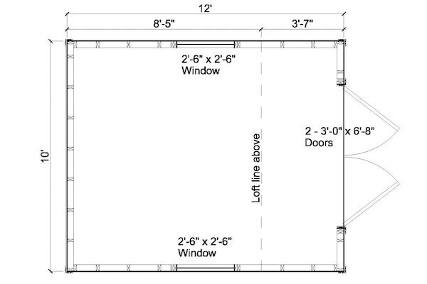 10x12 Shed Floor Plan Garden Sheds Guest Cottage Tree Houses