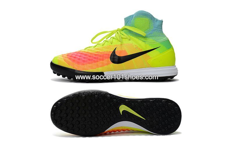 newest f5ec2 ac350 Nike Men s Magistax Proximo II TF Turf Soccer Football Shoe Green Colorful   74.00