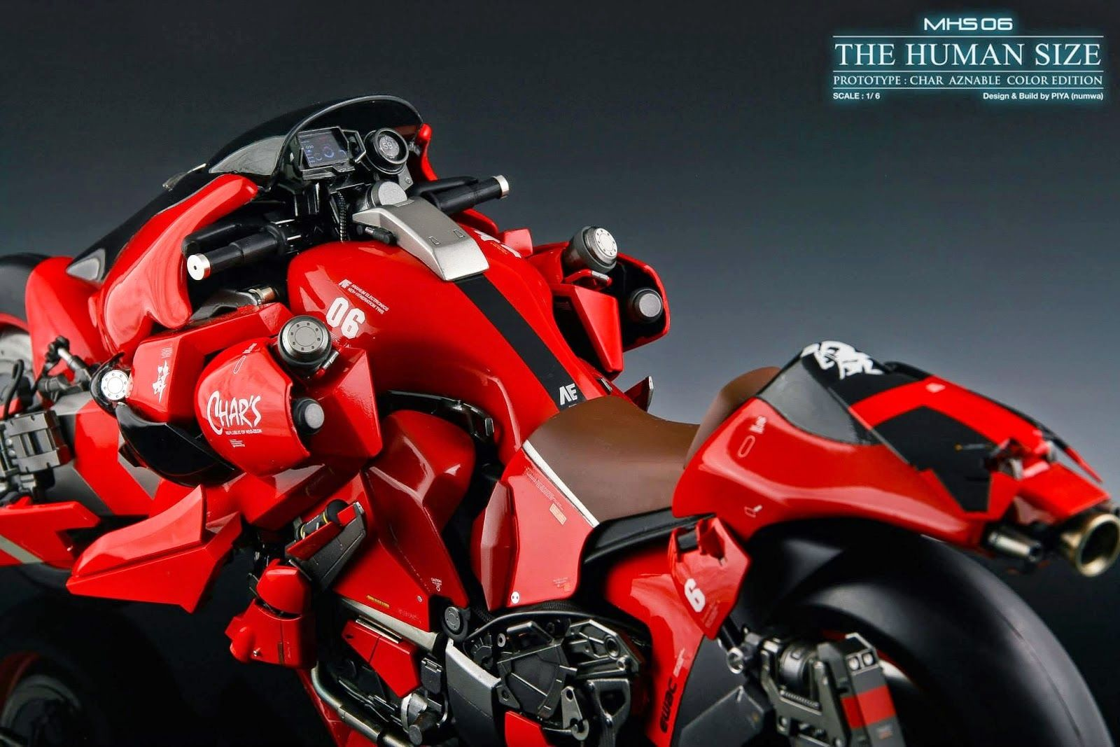 Gundam Guy 1 6 Scale Msh 06 The Humansize Custom Build Futuristic Motorcycle Concept Motorcycles Bike Design