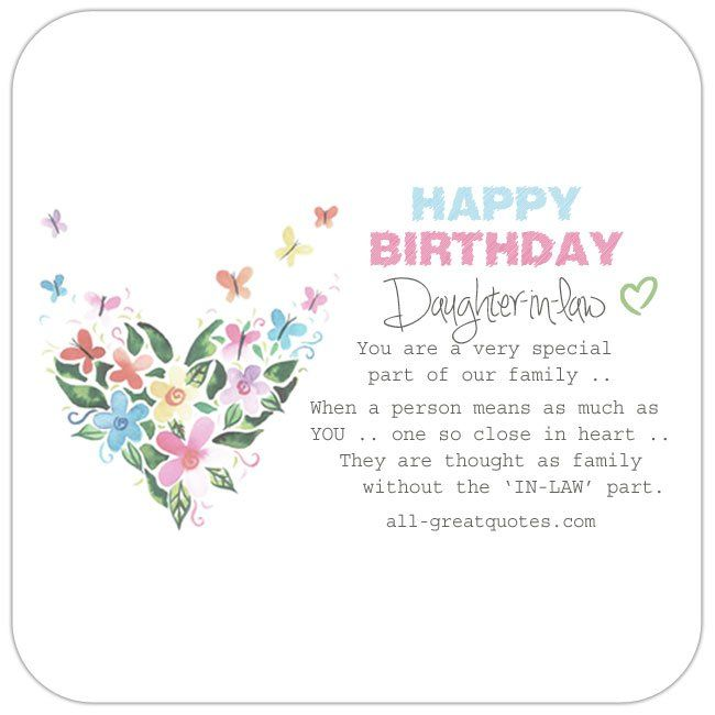 Pin On Birthday Card For Daughter In Law