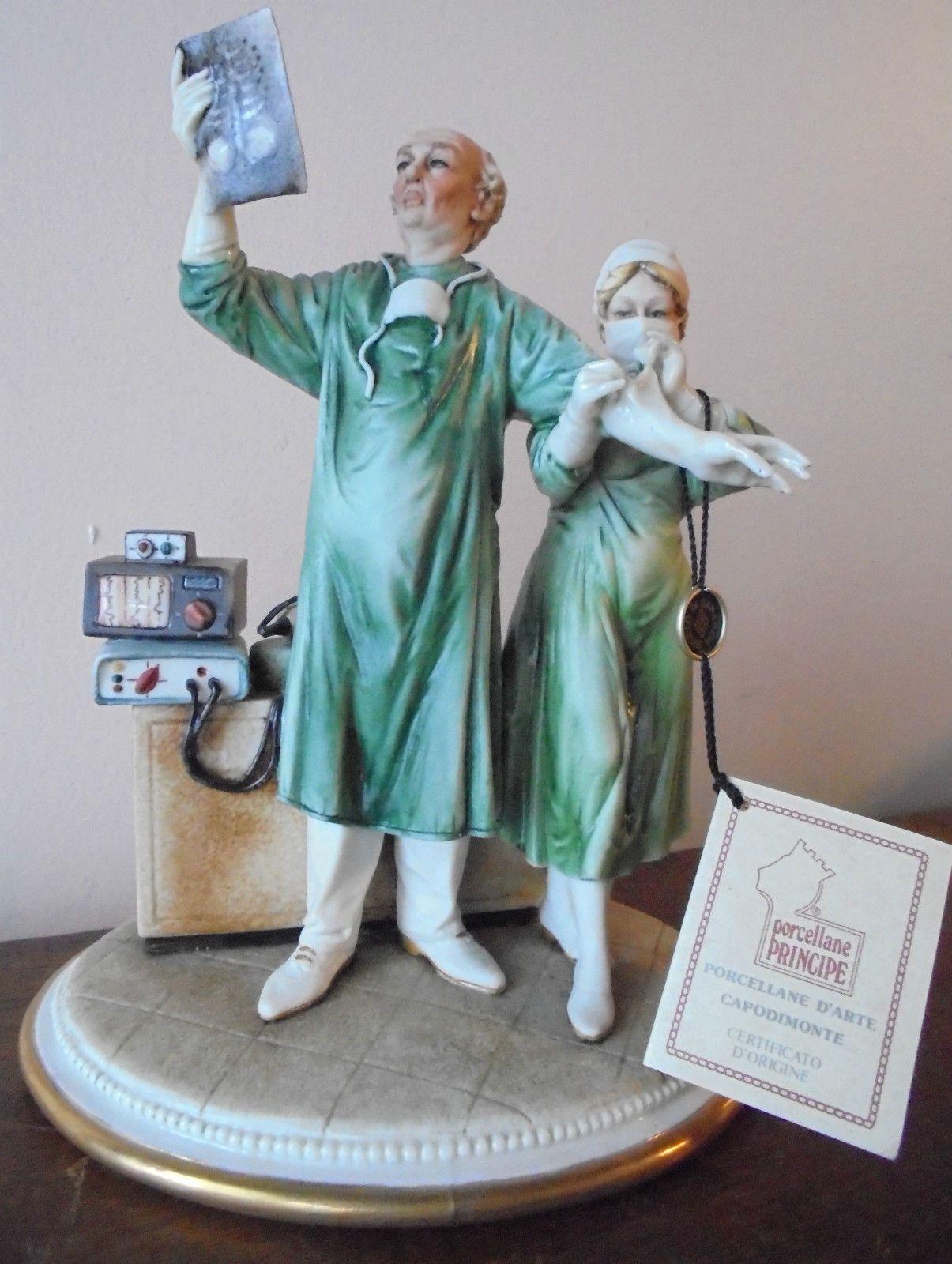 Authentic Porcelain Capodimonte Anaesthetic Surgeon Doctor