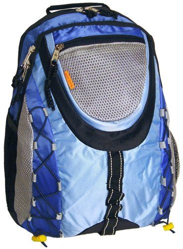 Wholesale K-Cliffs Bungee Style School Book Bag / Sporty Outdoor Backpack - Blue - Click image twice for more info - See a larger selection of boys teens backpacks - kids, boys, little boys, school supplies, kids fashion , teenager, bags.