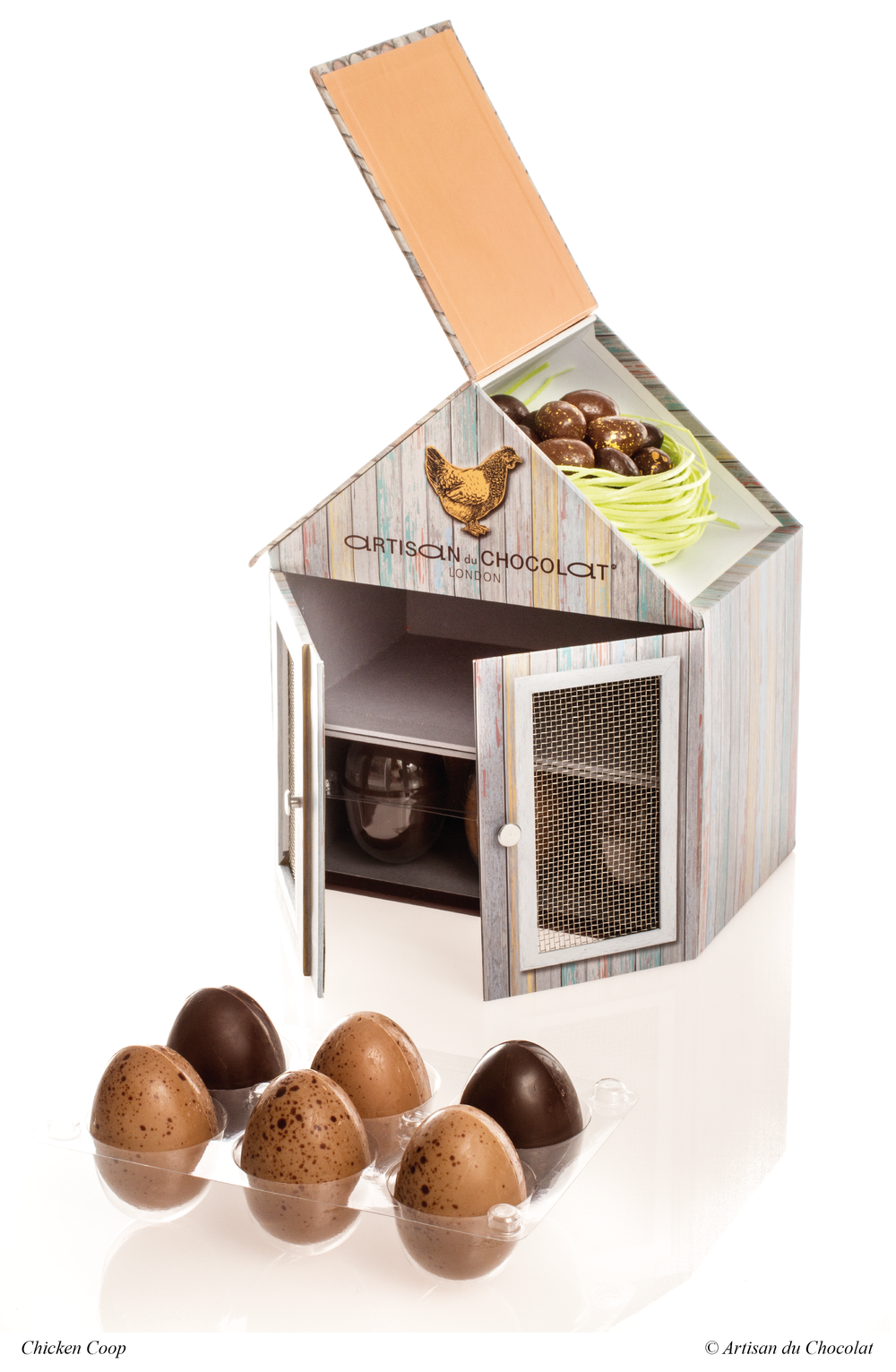 Chocolate easter egg artisan du chocolat easter chicken coop on chocolate chocolate easter egg negle Images