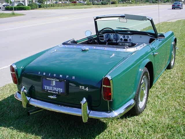 1964 Triumph Tr4 Rear View Cars I Like A Lot Cars Motorcycles