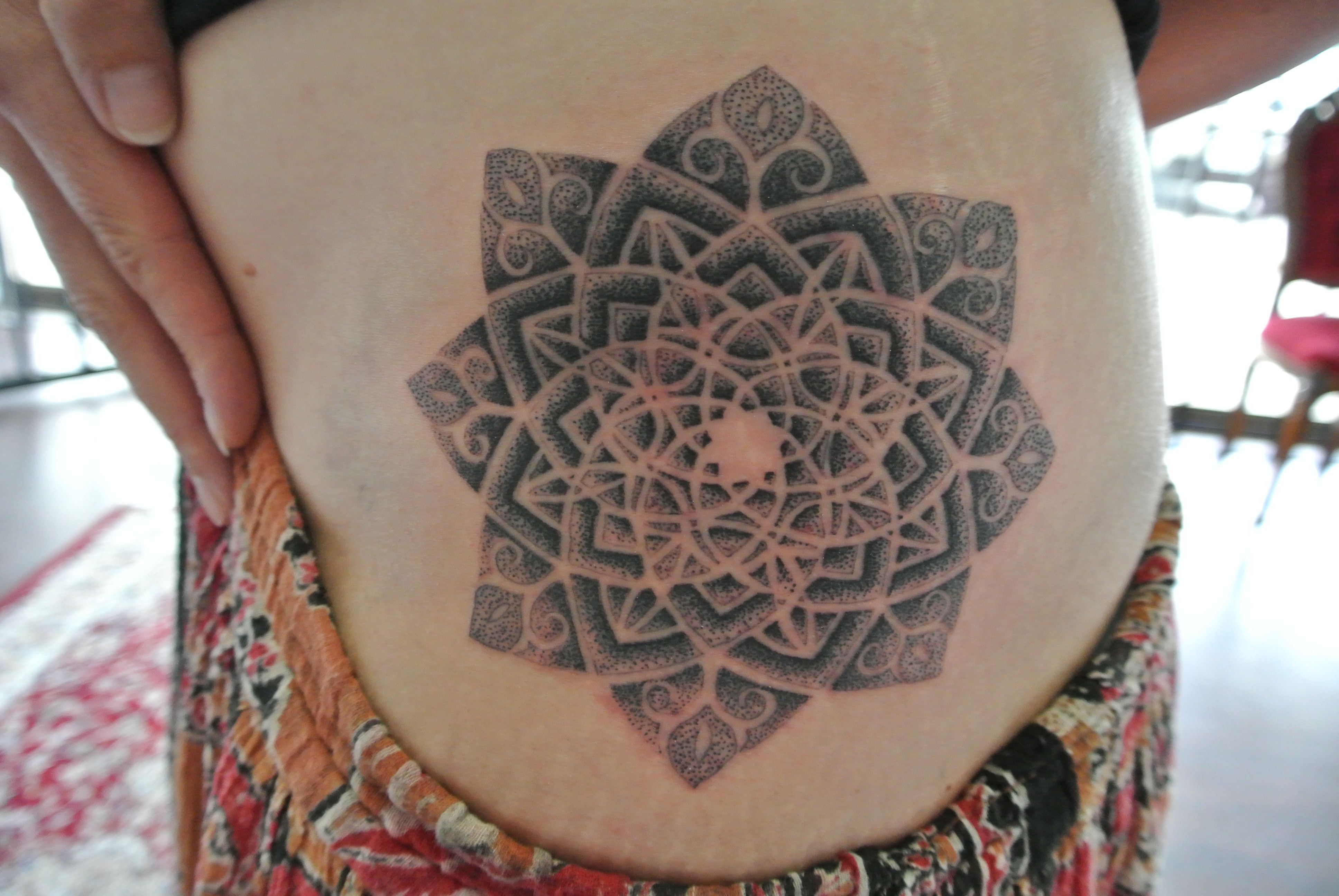 Tattoo By Lou Shaw Four Aces Tattoo Aldinga Beach South Australia 8556 5467 Mandala Done In Dots For A Stipple Effect Ace Tattoo Geometric Tattoo Tattoos