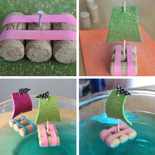 diy bateau avec des bouchons transports pinterest bouchons bricolage enfant et activit. Black Bedroom Furniture Sets. Home Design Ideas
