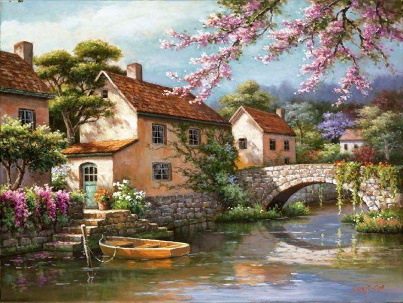 Картины -раскраски по номерам – 140 фотографий | Пейзажи ...